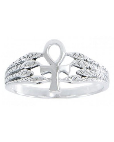 Egyptian Ankh Snake Silver Ring at Egyptian Marketplace,  Egyptian Decor Statues, Jewelry & Art - God Statues & Museum Replicas