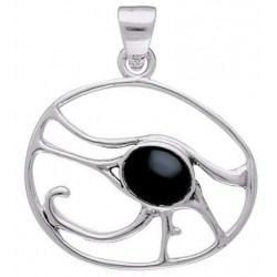 Egyptian Eye of Horus Pendant with Gemstone
