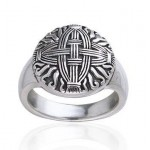 Celtic Cross of St Brigid Silver Ring at Egyptian Marketplace,  Egyptian Decor Statues, Jewelry & Art - God Statues & Museum Replicas