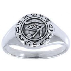Eye of Horus Egyptian Signet Ring Egyptian Marketplace  Egyptian Decor Statues, Jewelry & Art - God Statues & Museum Replicas
