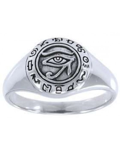 Eye of Horus Egyptian Signet Ring at Egyptian Marketplace,  Egyptian Decor Statues, Jewelry & Art - God Statues & Museum Replicas