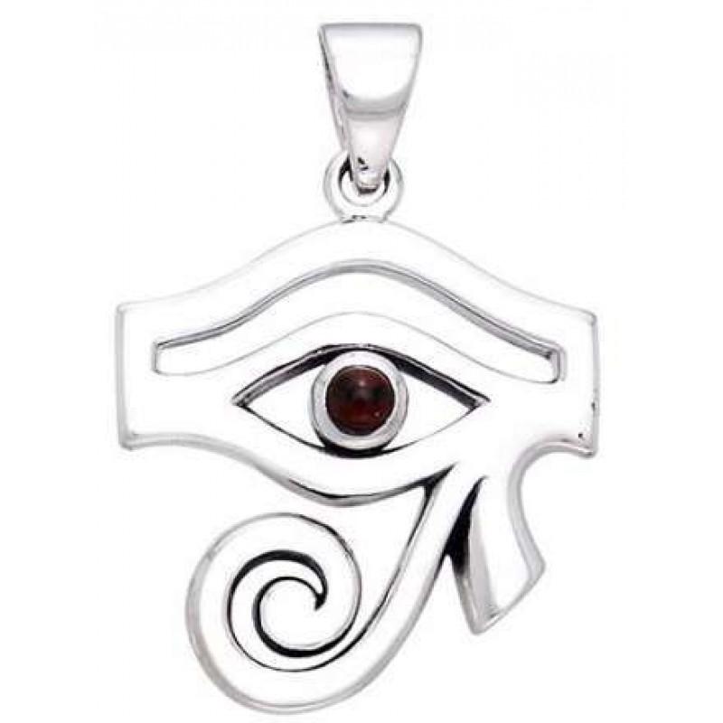 Eye of Horus Egyptian Pendant with Gemstone