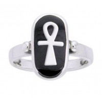 Ankh Sterling Silver Egyptian Ring