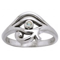 Eye of Horus Egyptian Ring with Gemstone