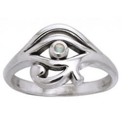 Eye of Horus Egyptian Ring with Gemstone