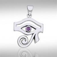 Eye of Horus Amethyst Gemstone Pendant