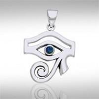 Eye of Horus Azurite Gemstone Pendant