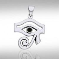 Eye of Horus Black Onyx Gemstone Pendant