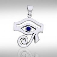 Eye of Horus Lapis Gemstone Pendant