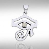 Eye of Horus Mother of Pearl Gemstone Pendant