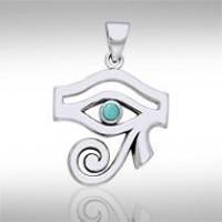 Eye of Horus Turquoise Gemstone Pendant
