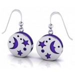 Silver Moon Aromatherapy Earrings at Egyptian Marketplace,  Egyptian Decor Statues, Jewelry & Art - God Statues & Museum Replicas