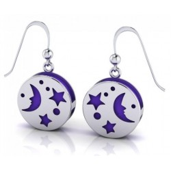 Silver Moon Aromatherapy Earrings Egyptian Marketplace  Egyptian Decor Statues, Jewelry & Art - God Statues & Museum Replicas