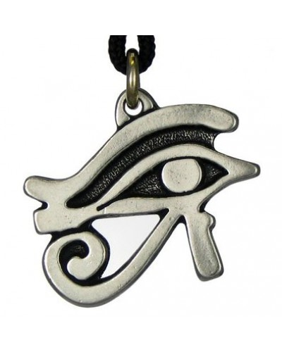 Egyptian Eye of Horus Pewter Necklace at Egyptian Marketplace,  Egyptian Decor Statues, Jewelry & Art - God Statues & Museum Replicas