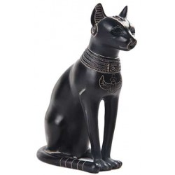 Bastet Egyptian Cat Goddess Basalt Finish Statue Egyptian Marketplace  Egyptian Decor Statues, Jewelry & Art - God Statues & Museum Replicas