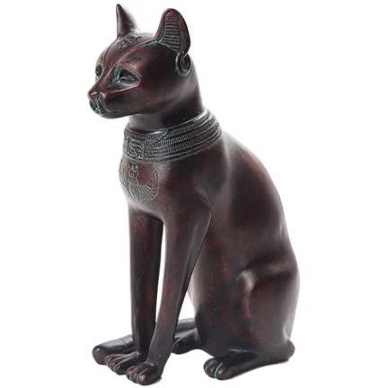 Bastet Egyptain Cat Goddess Statue With Kittens