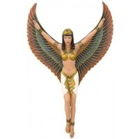 Winged Isis Egyptian Revival Goddess Plaque