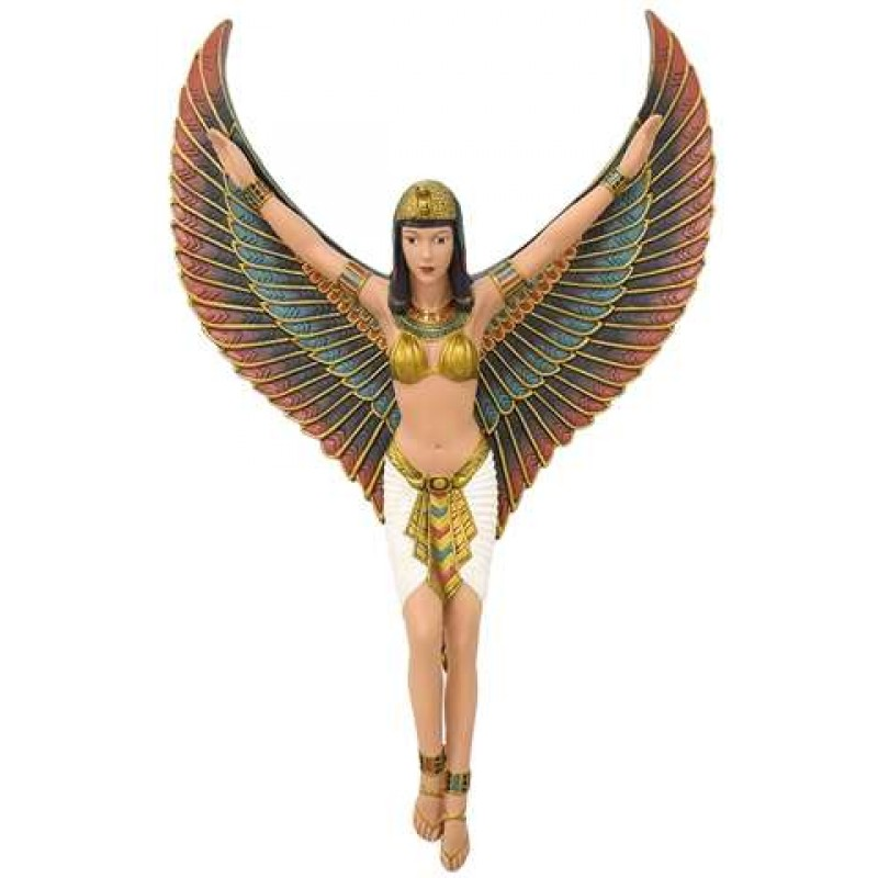 Egyptian Revival Style Winged Isis Goddess Plaque 18 23 Inches