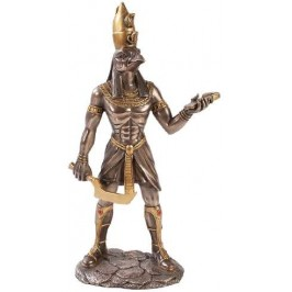 Horus Egyptian God Statue - 12 Inches