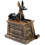 Anubis Small Egyptian Dog Trinket Box  at Egyptian Marketplace,  Egyptian Decor Statues, Jewelry & Art - God Statues & Museum Replicas