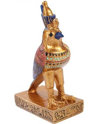 Horus Falcon Mini Egyptian God Statue at Egyptian Marketplace,  Egyptian Decor Statues, Jewelry & Art - God Statues & Museum Replicas