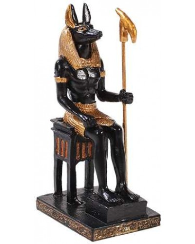 Anubis Mini Egyptian God Statue at Egyptian Marketplace,  Egyptian Decor Statues, Jewelry & Art - God Statues & Museum Replicas