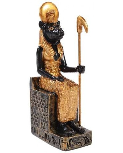 Sekhmet Mini Egyptian God Statue at Egyptian Marketplace,  Egyptian Decor Statues, Jewelry & Art - God Statues & Museum Replicas