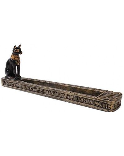 Bastet Egyptian Incense Burner at Egyptian Marketplace,  Egyptian Decor Statues, Jewelry & Art - God Statues & Museum Replicas