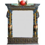 Wadjet Egyptian Wall Mirror with Cobra Candle Sconces at Egyptian Marketplace,  Egyptian Decor Statues, Jewelry & Art - God Statues & Museum Replicas