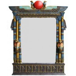 Wadjet Egyptian Wall Mirror with Cobra Candle Sconces Egyptian Marketplace  Egyptian Decor Statues, Jewelry & Art - God Statues & Museum Replicas