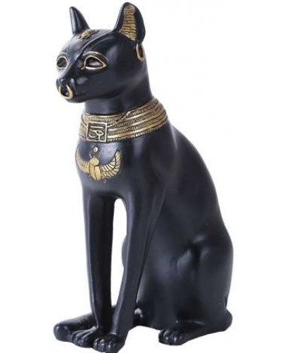 Bastet 8 Inch Egyptian Cat Statue at Egyptian Marketplace,  Egyptian Decor Statues, Jewelry & Art - God Statues & Museum Replicas