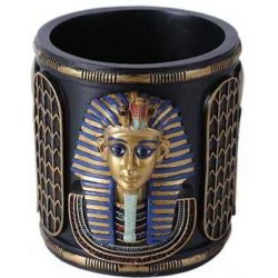 King Tut Utility Cup Holder Egyptian Marketplace  Egyptian Decor Statues, Jewelry & Art - God Statues & Museum Replicas
