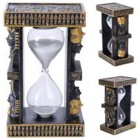 Egyptian King Tut and Nefertiti Sand Timer