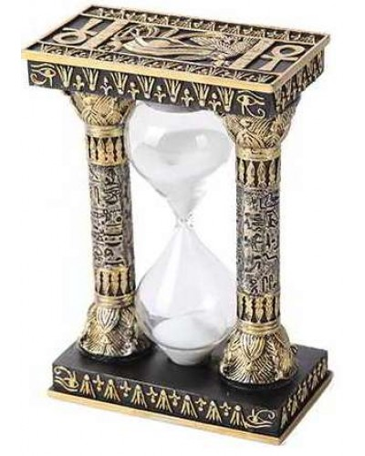 Egyptian Column Sand Timer at Egyptian Marketplace,  Egyptian Decor Statues, Jewelry & Art - God Statues & Museum Replicas