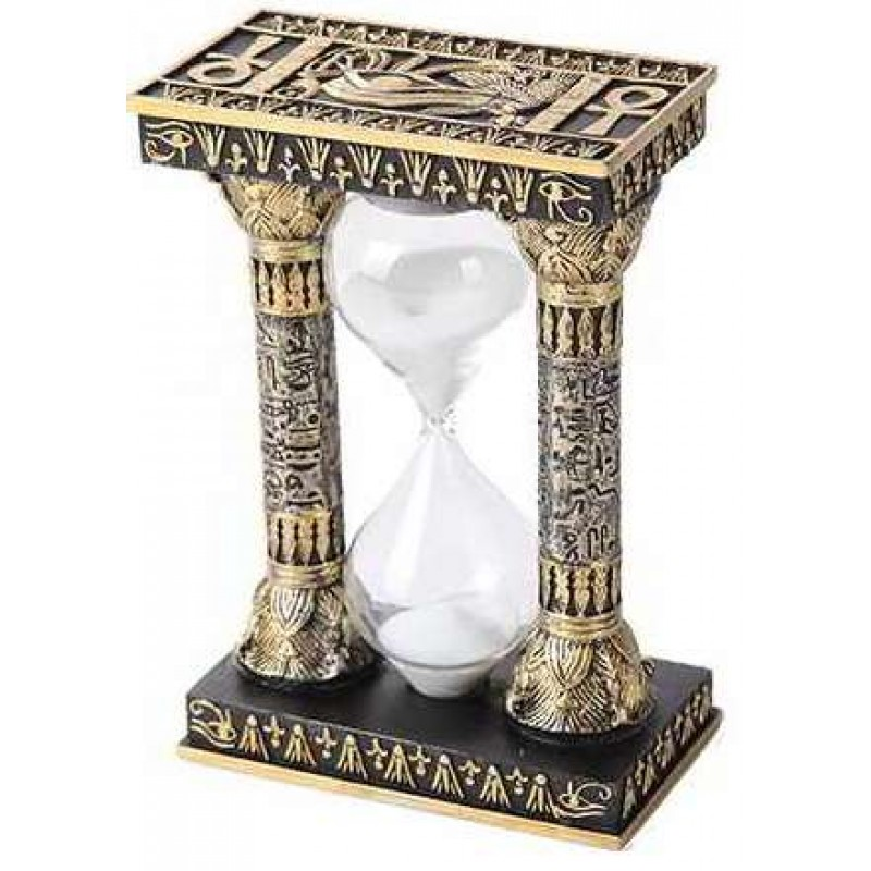 """Ancient Egypt Sand Timer 5.75/"""" Height White Sands Egyptian Tabletop Decor"""
