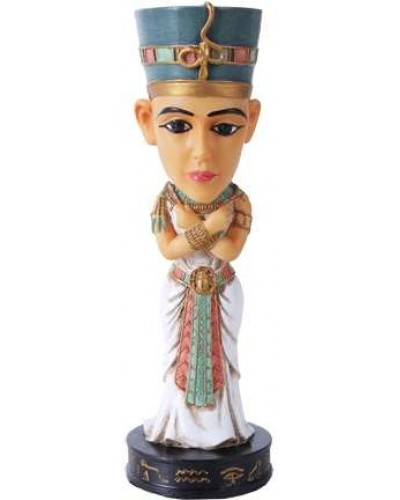 Nefertiti Egyptian Queen Bobblehead Statue at Egyptian Marketplace,  Egyptian Decor Statues, Jewelry & Art - God Statues & Museum Replicas