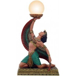 Egyptian Isis Table Lamp Egyptian Marketplace  Egyptian Decor Statues, Jewelry & Art - God Statues & Museum Replicas