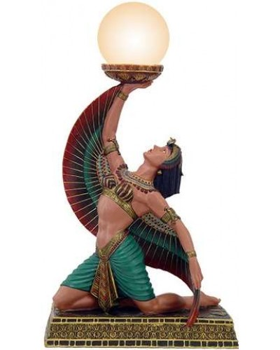 Egyptian Isis Table Lamp at Egyptian Marketplace,  Egyptian Decor Statues, Jewelry & Art - God Statues & Museum Replicas