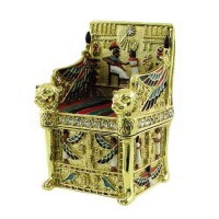 Kings Throne Egyptian Jeweled Mini Box - 2.5 Inches