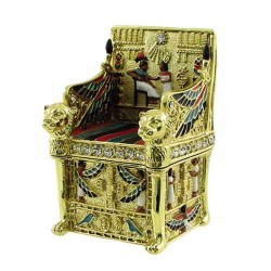 Kings Throne Egyptian Jeweled Mini Box - 2.5 Inches Egyptian Marketplace  Egyptian Decor Statues, Jewelry & Art - God Statues & Museum Replicas