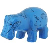 Hippopotamus Blue Egyptian Statue