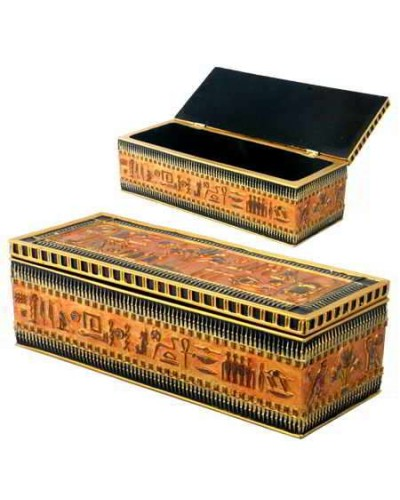 Egyptian Long Box at Egyptian Marketplace,  Egyptian Decor Statues, Jewelry & Art - God Statues & Museum Replicas