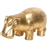 Hippopotamus Gold Leaf Egyptian Statue