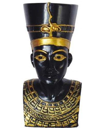 Nefertiti Bust Mini Egyptian Statue at Egyptian Marketplace,  Egyptian Decor Statues, Jewelry & Art - God Statues & Museum Replicas