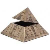 Pyramid of the Gods Egyptian Bronze Trinket Box