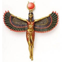 Winged Isis Egyptian Goddess Plaque Egyptian Marketplace  Egyptian Decor Statues, Jewelry & Art - God Statues & Museum Replicas
