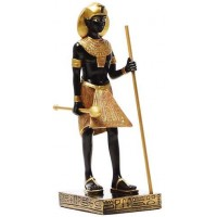 Egyptian King Tut Tomb Guardian Statue - 6.5 Inches