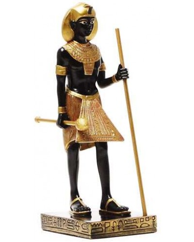 Egyptian King Tut Tomb Guardian Statue - 6.5 Inches at Egyptian Marketplace,  Egyptian Decor Statues, Jewelry & Art - God Statues & Museum Replicas