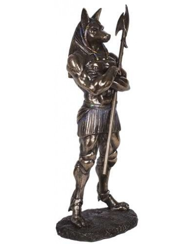 Anubis Egyptian God of the Dead Statue - 11 Inches at Egyptian Marketplace,  Egyptian Decor Statues, Jewelry & Art - God Statues & Museum Replicas