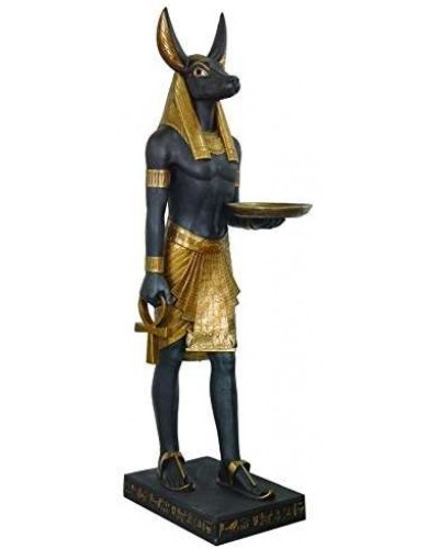 Anubis Egyptian Dog God Life Size 6 Feet Tall Statue at Egyptian Marketplace,  Egyptian Decor Statues, Jewelry & Art - God Statues & Museum Replicas
